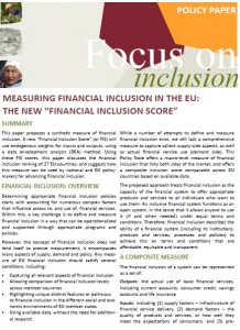 Measuring Financial Inclusion in the EU