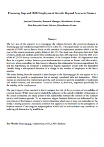 MFC Research paper_Financing Gap and SME Employment Growth_Beyond Access to Finance