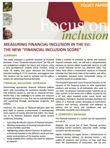 Measuring Financial Inclusion in the EU_ the New _Financial Inclusion Score_2014