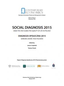 social diagnosis 2015_Diagnoza społeczna 2015. Warunki i jakość życia polaków. Rozdizał 4.3. Zasobność materialna